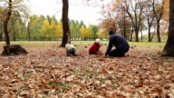 Father playing with daughter and son video
