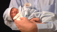 Father With Newborn Son video