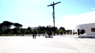 Fatima Sanctuary Portugal. Camera pans showing the place. video