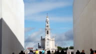 Fatima Sanctuary Portugal. People walking. video