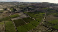 Favara And Landscape To the East  - Aerial View - Sicily, Province of Agrigento, Favara, Italy video