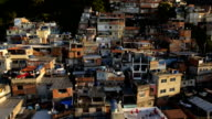 Favela Aerials: Slow move up favela mountainside houses in Rio de Janeiro, Brazil video
