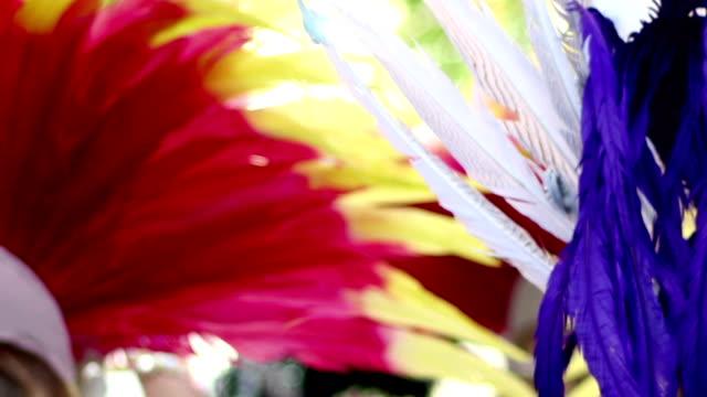 Feathers on Samba Dancers video