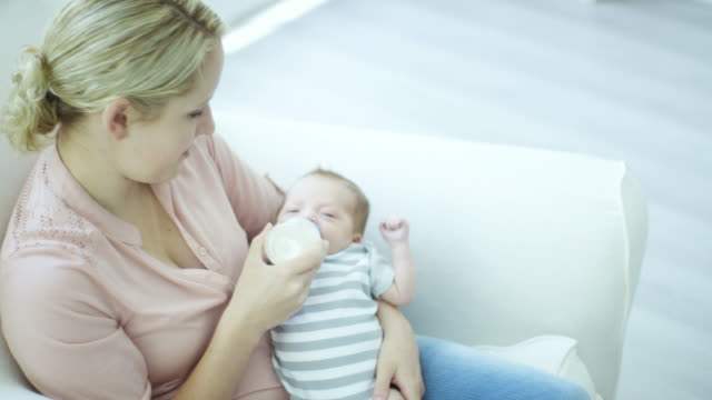 Feeding Her Newborn Boy video