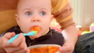 feeding with special silicone spoon video