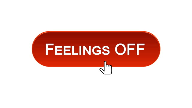 Feelings on-off web interface button clicked with mouse, different color choice video