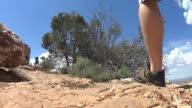 feet hiking trail video