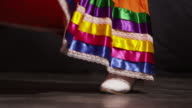Feet of a woman dancing video