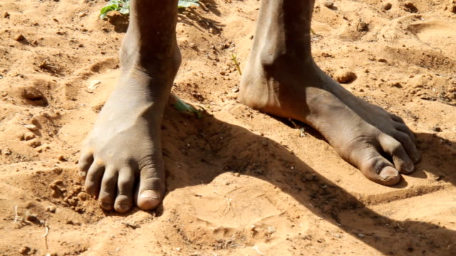 CU Feet Of Himba Child video