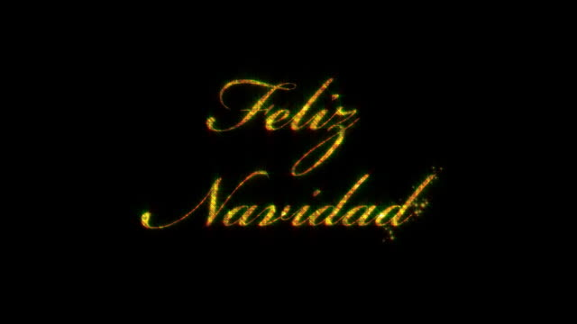 Feliz Navidad: Merry Christmas in Spanish, loopable from 8:00-12:00, with_matte video
