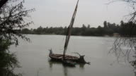 Felucca sailing boat on the Nile video