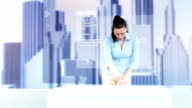 HD DOLLY: Female Architect Using Future Technology video