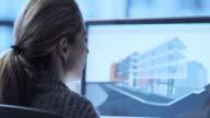 TU Female architect working on a virtual model video