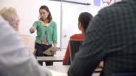 Female Asian teacher taking an adult education class video