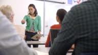 Female Asian teacher taking an adult education class video