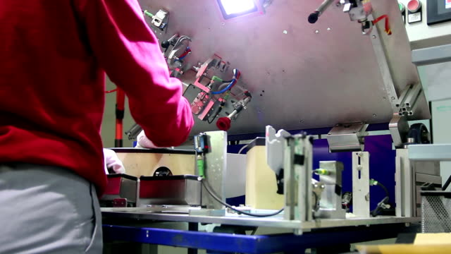 Female Assembly Line Worker at Work video