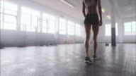 Female athlete at gym video