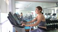 Female Athlete on training bike, Exercise Bike video