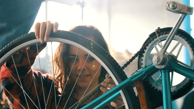 Female Bicycle Mechanic video