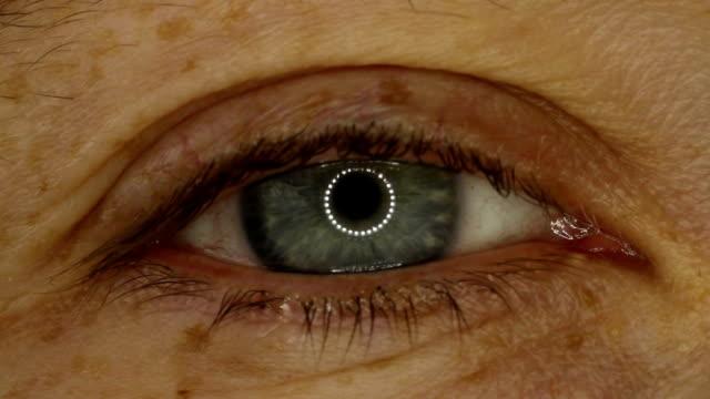 Female blue eye close-up video