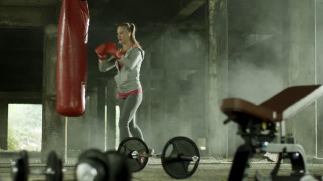 Female boxer training video