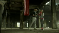 Female Boxer With Her Coach video
