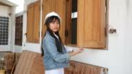 Female building inspector video