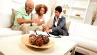 Female Business Advisor Home Meeting Elderly Couple video