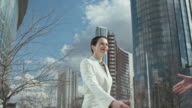 Female Business Partners Shaking Hands video