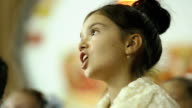 Female child singing in the choir video