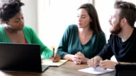 Female Counselor with Laptop Meeting with Young Couple video