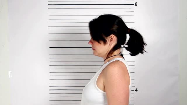 Female Criminal Mugshot video