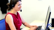 Female customer service video