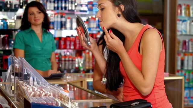 Female Customers Buying Beauty Care Products video