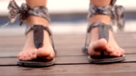 Female dancing feet video