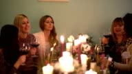 Female dinner party video