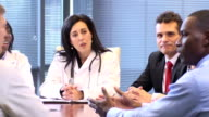 Female Doctor Leads a Meeting with Professionals video