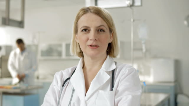 Female Doctor Talking At The Camera video
