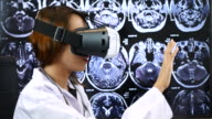 Female Doctor using Virtual reality, Healthcare And Medicine Concept video