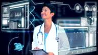 Female Doctor Virtual Medical Studio Environment video