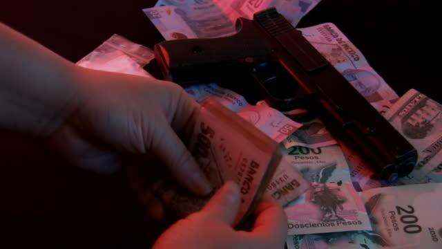 Female Drug Dealer Counting Cash (HD) video