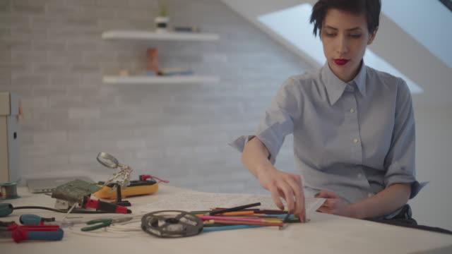 4K: Female Engineer Coloring Book video