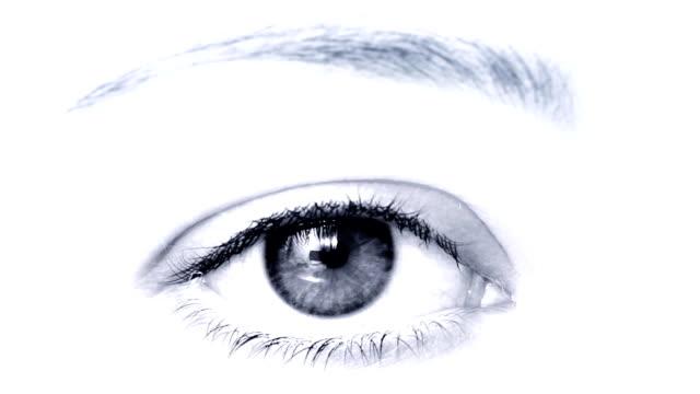 Female eye video
