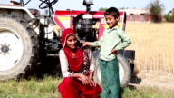 Female Farmer Talking on the mobile phone video