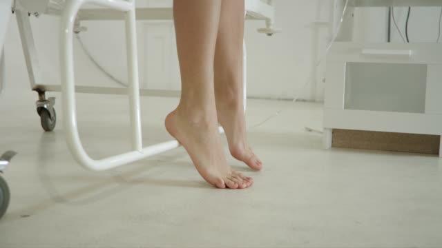Female Feet Under Hospital Bed video
