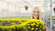 Female florist video