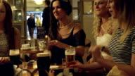 Female Friends at a Pub video