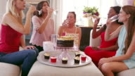 Female Friends Celebrating Birthday At Home Shot On R3D video