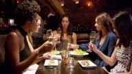 Female Friends Enjoying Meal In Restaurant Shot On R3D video