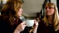 Female Friends in Cafe video